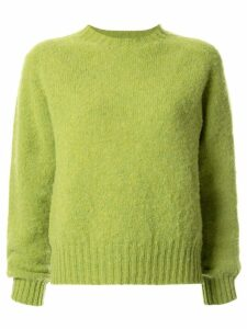 YMC slim-fit crew-neck jumper - Green