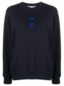 Stella McCartney tasselled embroidered star sweatshirt - Blue
