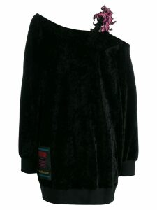 Versace Jeans Couture floral strap jumper - Black