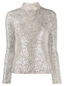 L'Autre Chose sequinned high-neck top - NEUTRALS