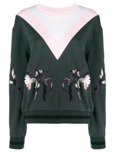 Escada Sport embroidered sweatshirt - Green