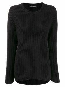 Iris Von Arnim crew-neck knit sweater - Black