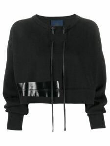 Ilaria Nistri drawstring knitted top - Black