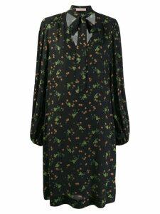 Kristina Ti neck-tie floral dress - Black