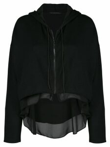 Kiki de Montparnasse Athleisure zip-up hoodie - Black