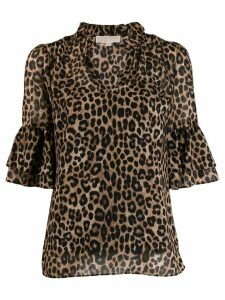 Michael Michael Kors animal print blouse - Brown