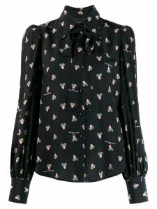 Marc Jacobs The floral-print loose-fit Blouse - Black