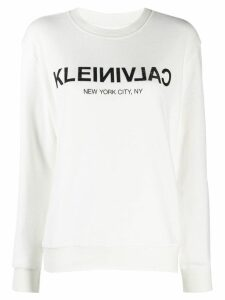 Calvin Klein logo sweater - White