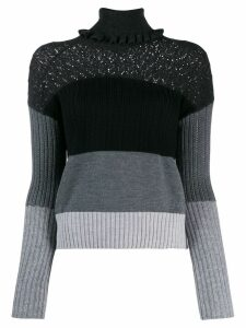 Kenzo striped knitted jumper - Black