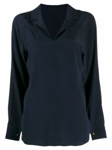 Cédric Charlier blouse with back v neck - Blue