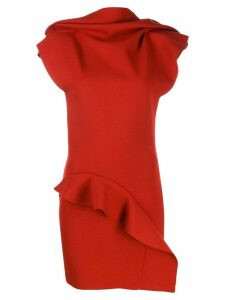 Rick Owens ruffled detail blouse - Red
