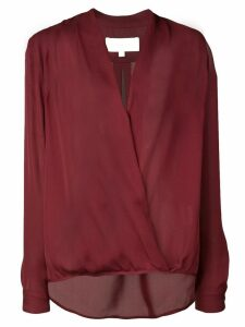 Michelle Mason wrap V-neck blouse - Red