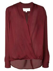 Michelle Mason wrap V-neck blouse - Red