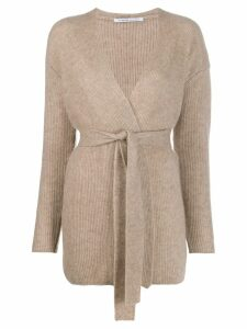 Agnona cable knit cardigana - NEUTRALS