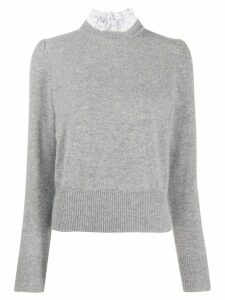 Sandro Paris sweatshirt with ribbed details - Grey