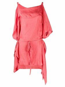 Ann Demeulemeester draped detail blouse - Pink