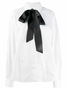 Alexandre Vauthier bow neck shirt - White