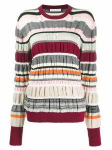 JW Anderson stripe ruched jumper - Brown
