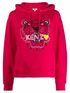 Kenzo embroidered tiger hoodie - PINK