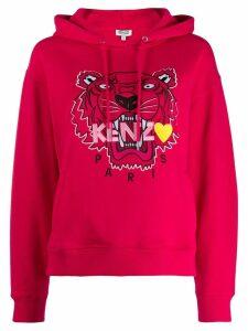 Kenzo embroidered tiger hooded sweatshirt - Pink