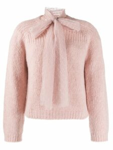 Red Valentino 'RED Valentino' pussy bow detailed jumper - PINK