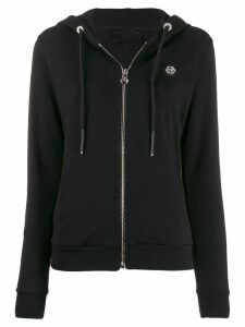 Philipp Plein logo zip-up hoodie - Black