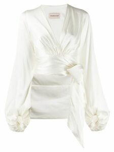 Alexandre Vauthier wrapped crop blouse - White