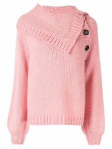 Nº21 buttoned knit jumper - PINK