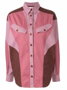 Isabel Marant Étoile contrast patchwork shirt - PURPLE