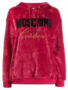 Moschino Couture! logo hoodie - Red