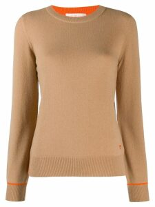 Tory Burch round neck sweater - NEUTRALS
