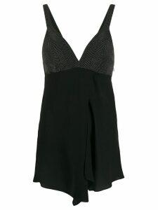 Brunello Cucinelli V-neck blouse - Black