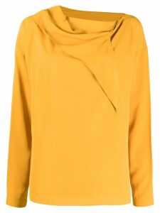 Cédric Charlier Blouse with knot - Yellow