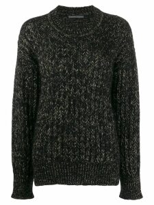 Alberta Ferretti metallic knit jumper - Black