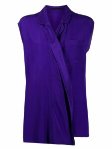 Haider Ackermann wrap front shirt - Purple