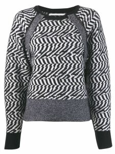 Stella McCartney herringbone glitch sweater - Black