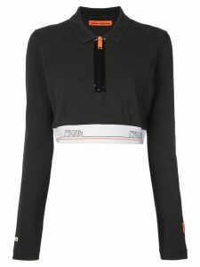 Heron Preston Tape cropped polo shirt - Black