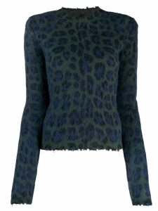Unravel leopard print sweater - Blue