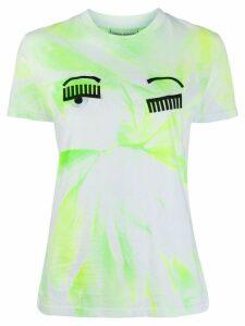 Chiara Ferragni tie-dye wink T-shirt - Yellow
