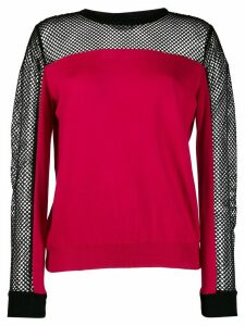 Boutique Moschino long sleeve mesh top - PINK