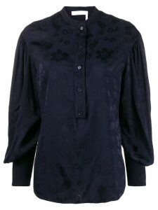 Chloé jacquard flower blouse - Blue
