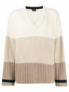 PS Paul Smith striped knit jumper - NEUTRALS