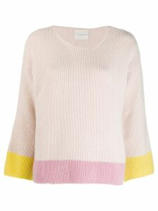 Fine Edge colour-block jumper - PINK
