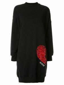 MSGM sequins embellished dress - Black