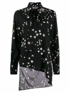 P.A.R.O.S.H. star print bow tie shirt - Black
