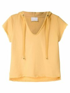 Andrea Bogosian short-sleeved hoodie - Yellow