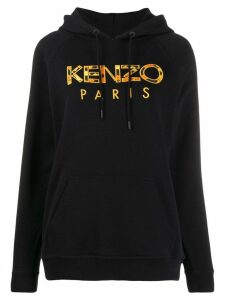Kenzo embroidered logo hoodie - Black