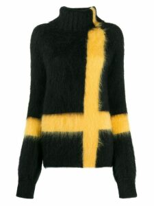 Gianluca Capannolo striped roll-neck jumper - Black