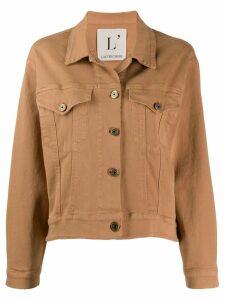 L'Autre Chose cotton bomber jacket - NEUTRALS