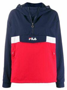Fila logo print hoodie - Blue